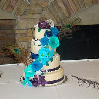 Wedding cascade - Cake by Ebony