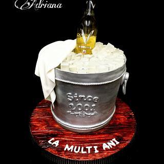 Wine Bucket - Cake by Irina-Adriana