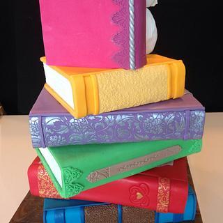 Books and wisdom cake