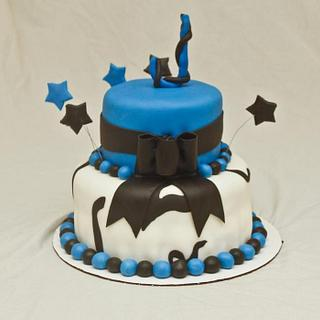 Blue  - Cake by MissasMasterpieces