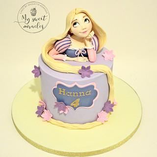 rapunzel on a cake