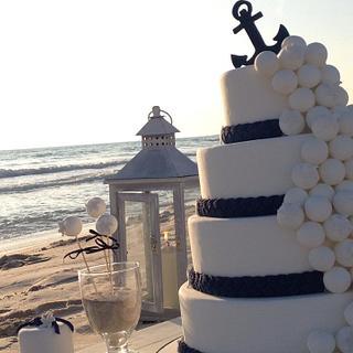 Wedding cake with pops  - Cake by GrammyCake
