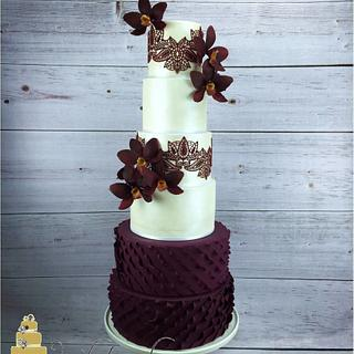 Burgundy - Cake by Whitsunday Baked Creations - Deb Smith