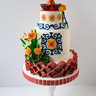 Andalusian Gardens of Old Spain - Gardens Of The World Cake Collaboration