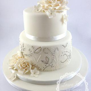 Rose Dragees Cake