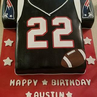 New England Patriots Jersey Cake