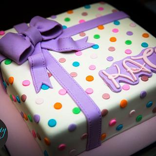 Polka Dot Love - Cake by Sweet Rhapsody Cake Art Studio