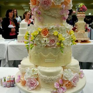 Floral Pastels Wedding Cake