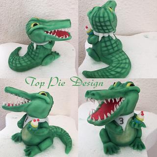 Crocodile - Cake by Top Pie Design