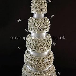 Sugar Rose Weddig Cake