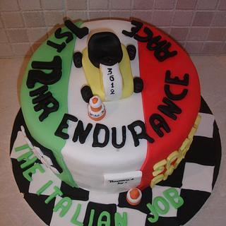 Kart race cake