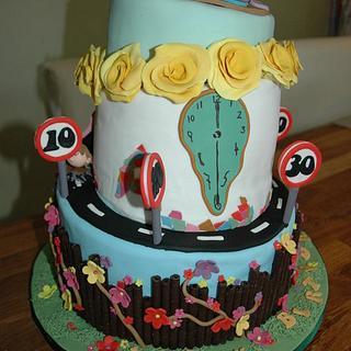 Unique birthday cake for a close friend