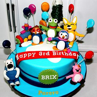 pororo and friends cake