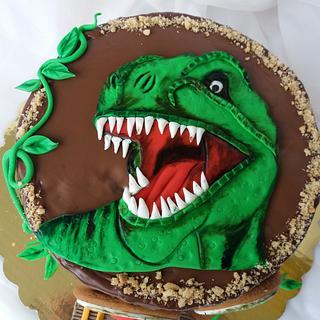 T-Rex cake  - Cake by Nadi Ivanova