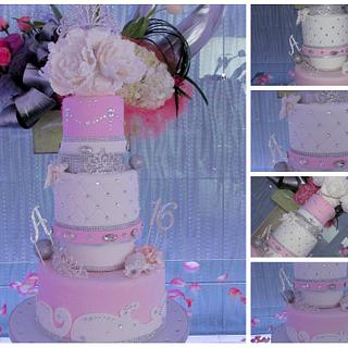 Sweet sixteen fairy tale cake