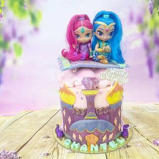 Shimmer and Shine - Cake by Sugar Snake Cake