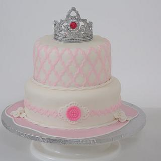 Tiara for the first baby girl.