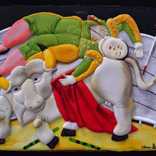 """""""La Cornada"""" 1988 de Fernando Botero"""