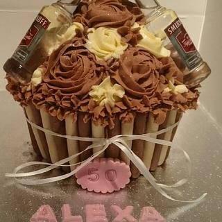 giant cupcake. chocolate with vodka.