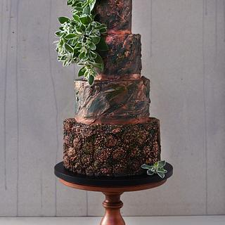 Bronze Bas-relief Wedding Cake