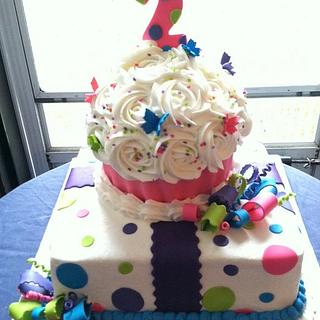 Giant Cupcake on top present