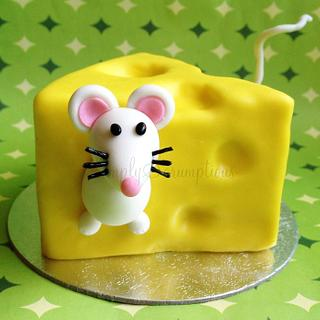 Mouse Stuck in Cheese