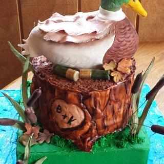Mallard Duck Grooms Cake