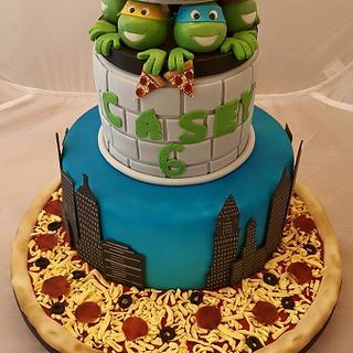 My Sons Teenage Mutant Ninja Turtle Cake - Cake by Kate