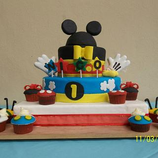 """BAPTISM CAKE """"Mickey Mouse"""""""