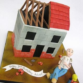 Bricklayer Cake - Partially Contructed House
