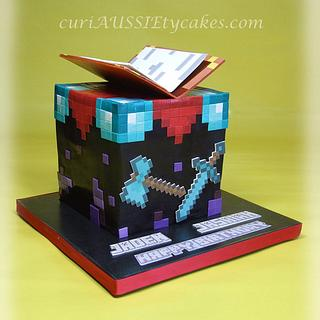 """Enchantment table"" minecraft cake"