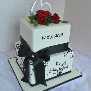Black and red birthday cake - Cake by Probst Willi Bakery Cakes