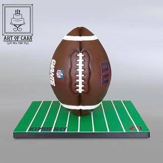 3D Gravity Football Cake