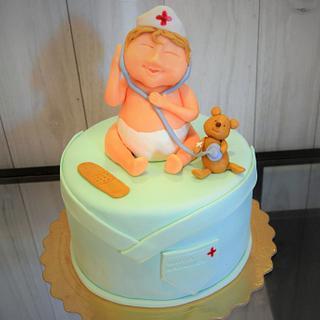 pediatrician cake - Cake by Maria Ferreira