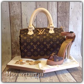 Louis Vuitton bag and schoe...