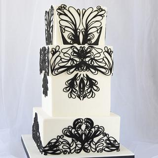 Black and White Cake - Avant Garde Collaboration