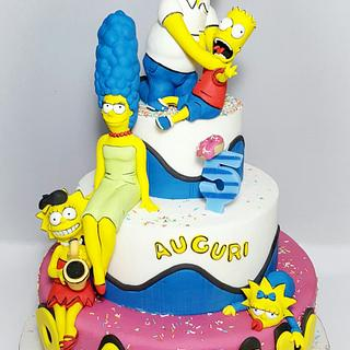 """""""WHY YOU LITTLE.....!!!! """"The Simpsons cake!"""