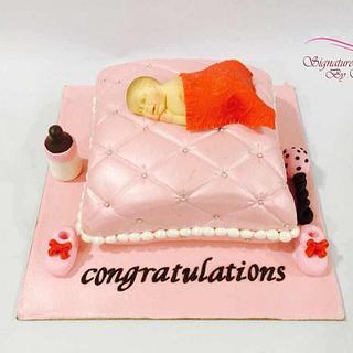 Baby on A Cushion Cake
