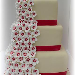 Wedding cake for Helen and James