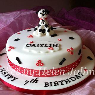 spotty dog birthday cake