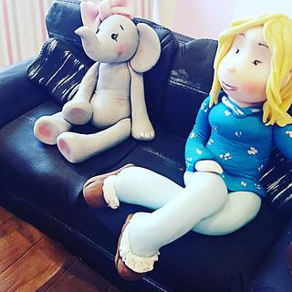 Sitting with ellie - Cake by Helen at fairy artistic