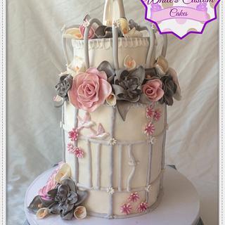 Birdcage Wedding Cake - Cake by Sabrina - White's Custom Cakes