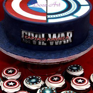 Civil War Cake & Cupcakes