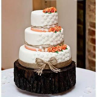 rustic wedding theme - Cake by sofeesmum