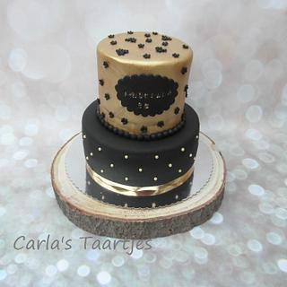 Black and Gold - Cake by Carla