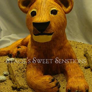 Lion Cub - Cake by Naturepixie