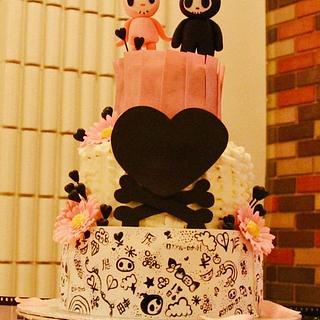 Tokidoki Wedding - Cake by The Cakery