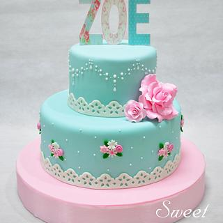 Shabby Chic Cake - Cake by Sweet Success