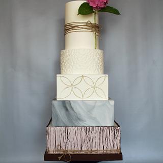 """Hydrangea""-Wedding cake"