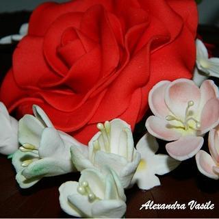 Rose cake - Cake by alexandravasile